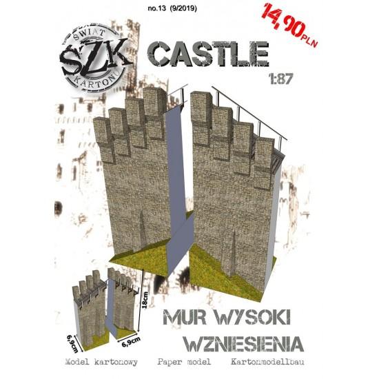 CASTLE 013 - Mur wysoki - Skosy 30 stopni