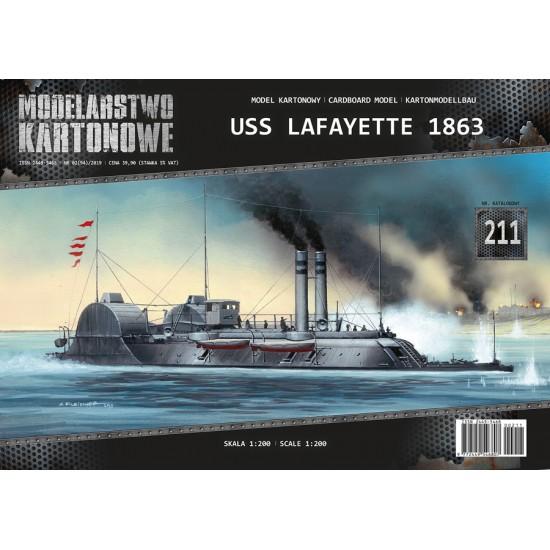 Okręt pancerny USS LAFAYETTE 1863