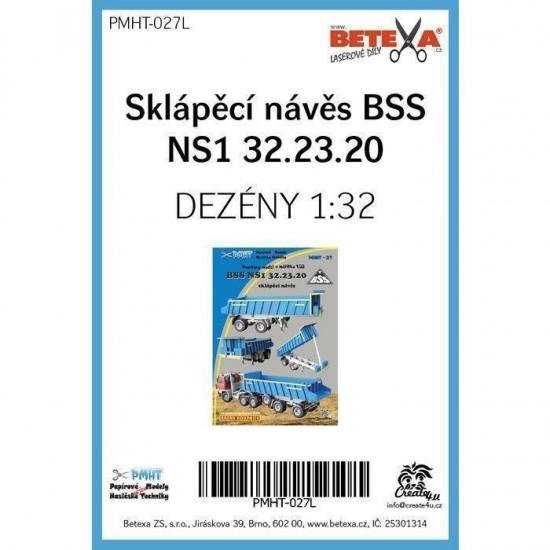 Naczepa BSS NS1 32.23.20  - laserowo wycinane  bieżniki
