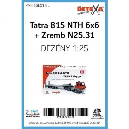 Tatra 815 NTH 6x6 + Zremb N25.31  - laserowo wycinane  bieżniki