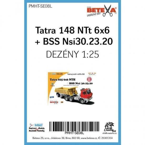 Tatra 815 6x6 NTH z naczepą BSS NS1 32.23.20  - laserowo wycinane  bieżniki