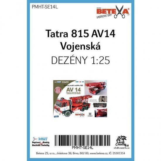 Tatra 815 AV14 Army 1/25  - laserowo wycinane  bieżniki