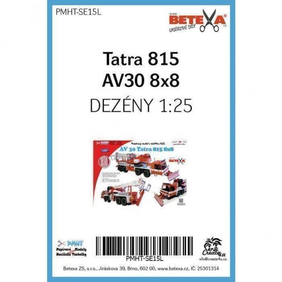 Tatra 815 AV30 8x8 1/25  - laserowo wycinane  bieżniki