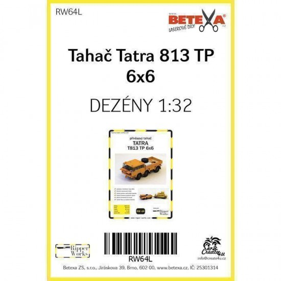 Tatra 813 TP 6x6 - laserowo wycinane  bieżniki