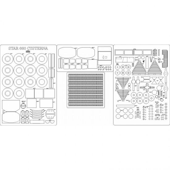 STAR 660 cysterna - szkielet, detale, bieżniki