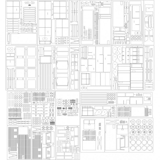 Lokomotywa 162 CD - szkielet, detale, tabliczki