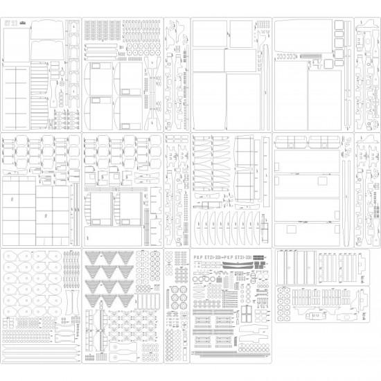 Lokomotywa ET21 - szkielet, detale, tabliczki