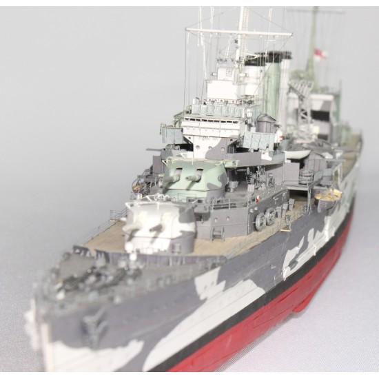Brytyjski ciężki krążownik HMS Suffolk, skala 1:300