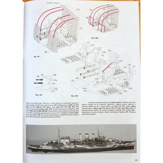 Brytyjski ciężki krążownik HMS Suffolk, skala 1:200