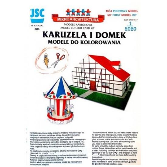 KARUZELA I DOMEK, MODELE DO KOLOROWANIA