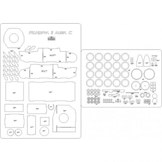 Pz.Kpfw.II Ausf. C - szkielet, detale,