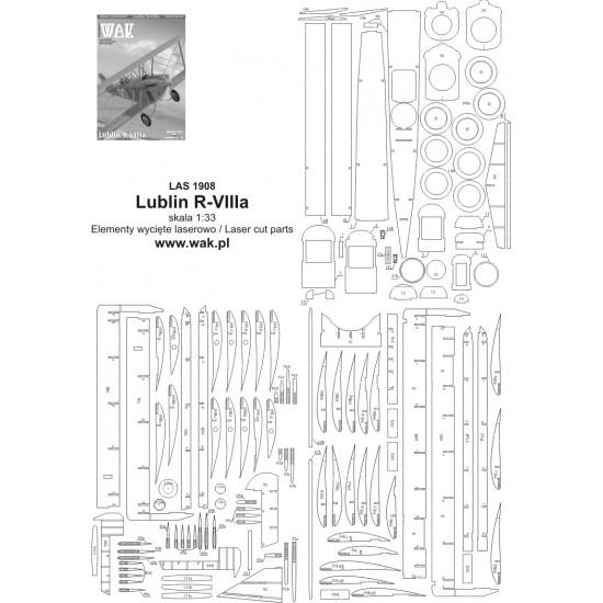 Lublin R-VIIIa - laserowo wycinane części
