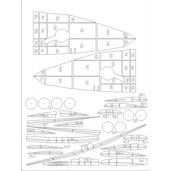 Supermarine Spitfire HF Mk.VIII - szkielet wycinany laserowo