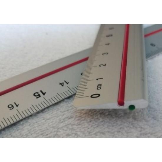 LINIJKA ALU  dwustronna 20 cm