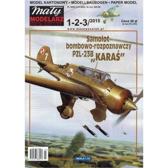 SAMOLOT BOMBOWO-ROZPOZNAWCZY  PZL-23B KARAŚ