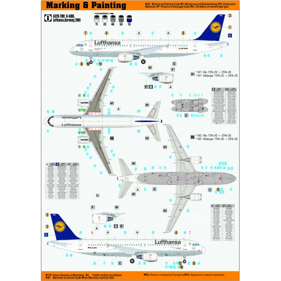 Airbus A-320-200 LUFTHANSA 1:125