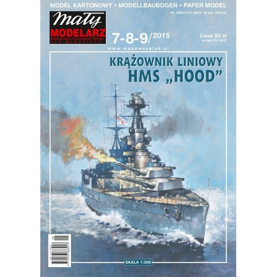 "Krążownik liniowy HMS ""HOOD"""