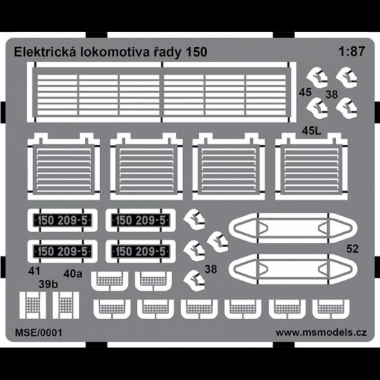 Lokomotywa elektryczna serii 150 (E499.2)  - elementy  fototrawione