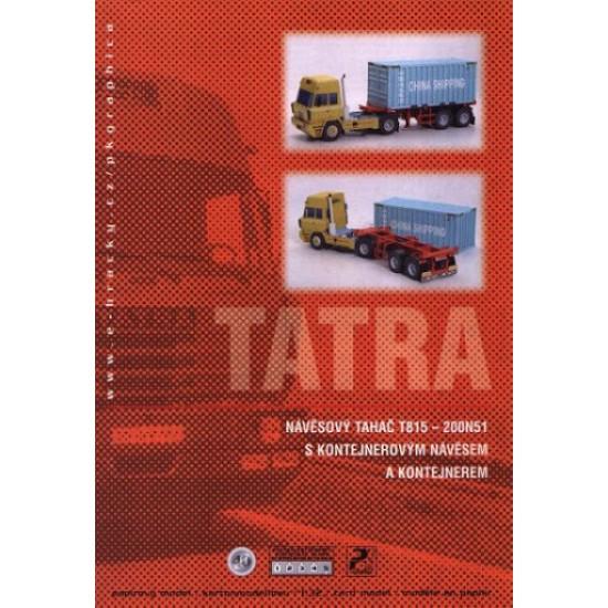 Tatra T815 - 200N51 z naczepą do przewozu kontenerów