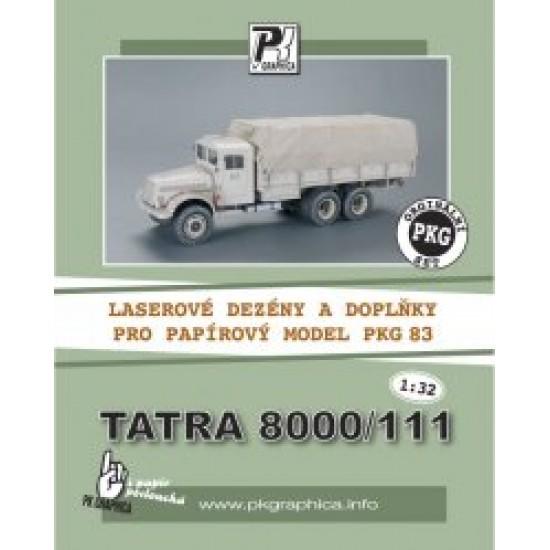 Tatra 8000/111 - laserowo wycinane bieżniki i detale