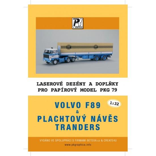Volvo F89 z naczepą tranders  - laserowo wycinane bieżniki i detale