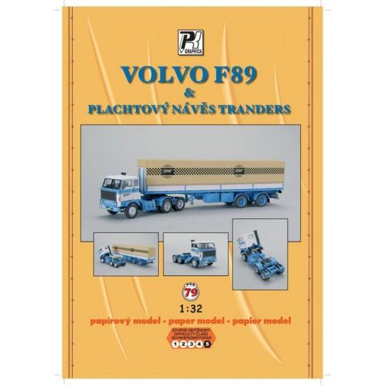 Volvo F89 z naczepą Tranders