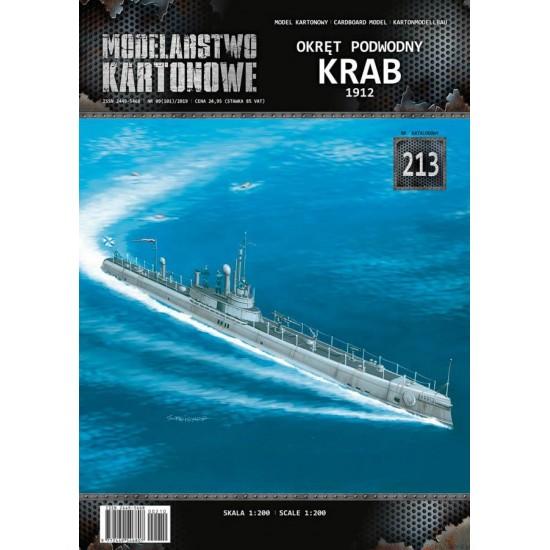Okręt podwodny KRAB 1912-1915