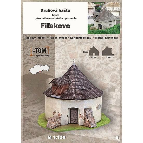 Okrągły bastion fortyfikacji miejskich - Fiľakovo
