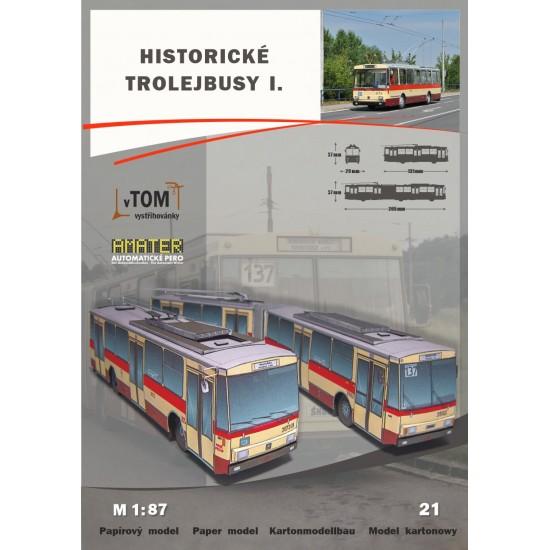 Historyczne Trolejbusy I - Skoda 14tr i Skoda 15Tr