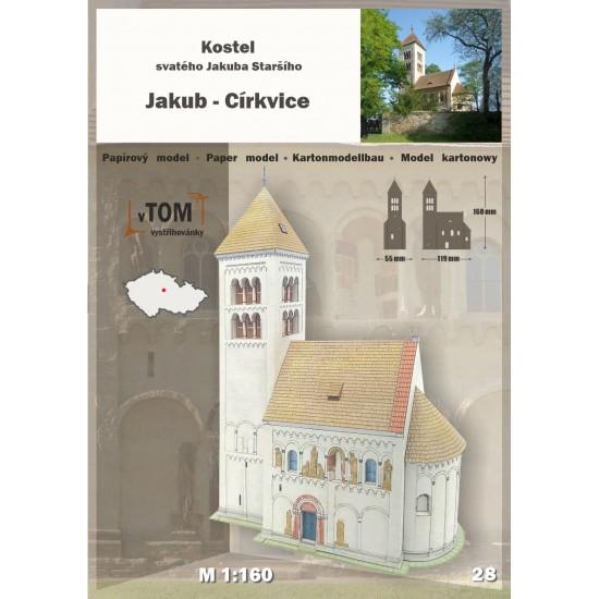 Jakub-Cirkvice - kościół pw. św. Jakuba Starszego