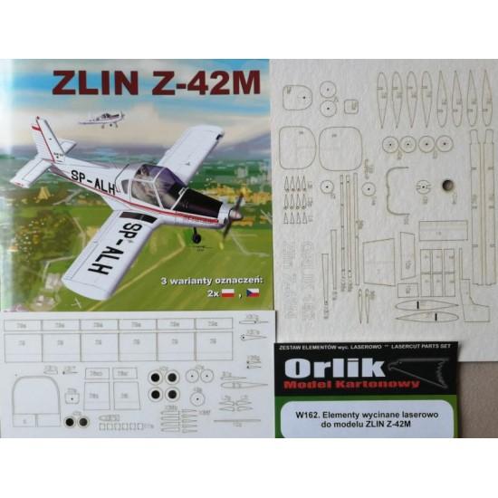 W162 Elementy  wycinane laserowo do modelu ZLIN Z-42M