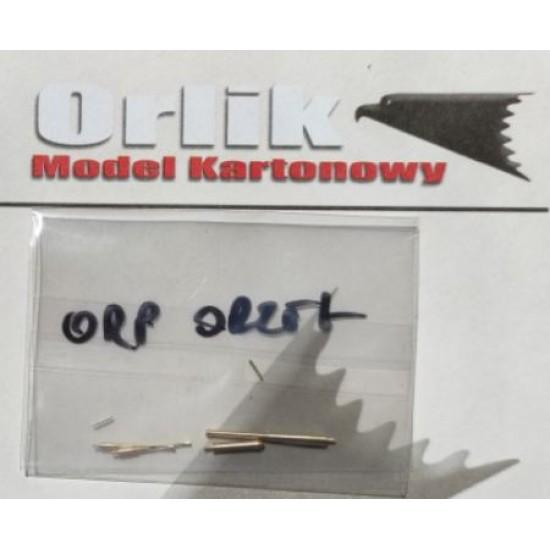 ORP Orzeł  - LUFY DZIAŁ - metal barrels