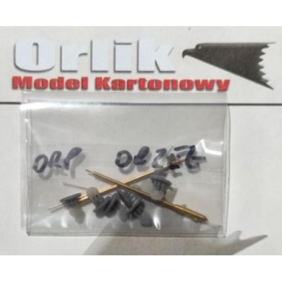ORP Orzeł - toczone wały napędowe i elementy śrub