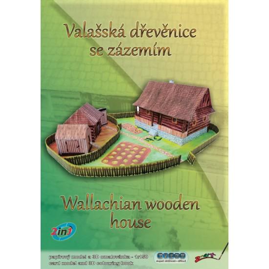 Zagroda z domem drewnianym