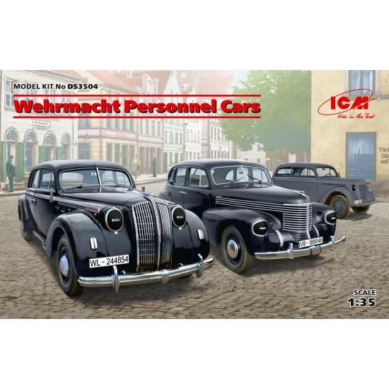 Wehrmacht Personnel Cars (Kadett K38 Saloon, Kapitan Saloon, Admiral Saloon)