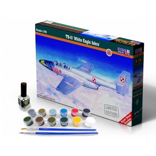 TS-11 WHITE EAGLE ISKRA START SET- zestaw z farbami, klejem i pędzlami.
