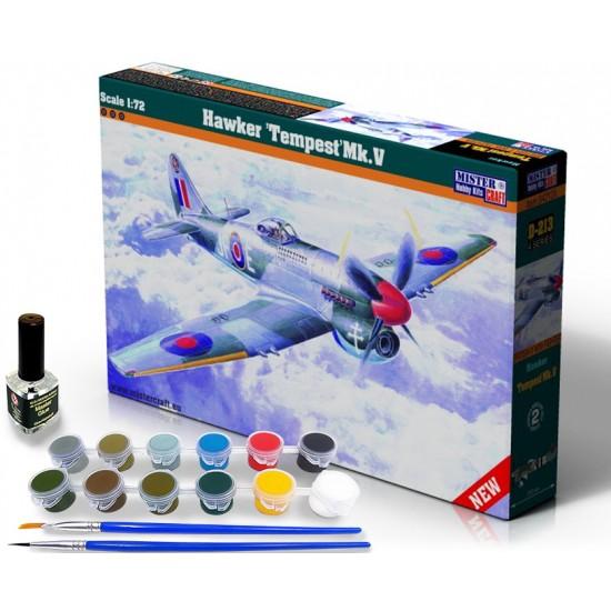 Hawker Tempest Mk.V START SET - zestaw z farbami, klejem i pędzlami.