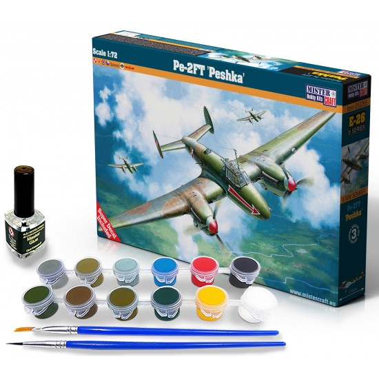 Petlakow Pe-2FT Polish Arrow START SET - zestaw z farbami, klejem i pędzlami.
