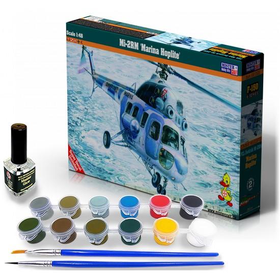 """Mi-2RM """"Marina Hoplite"""" START SET - zestaw z farbami, klejem i pędzlami."""