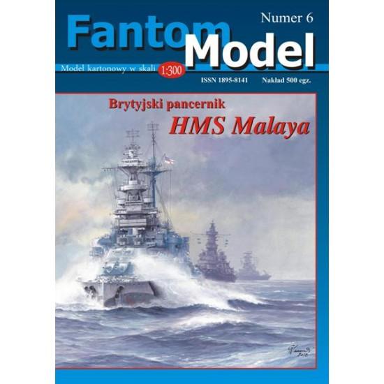 Brytyjski pancernik HMS Malaya 1:300