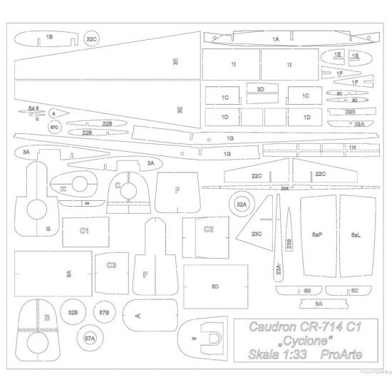 C.R. 714 C1 -  wręgi wycinane laserowo