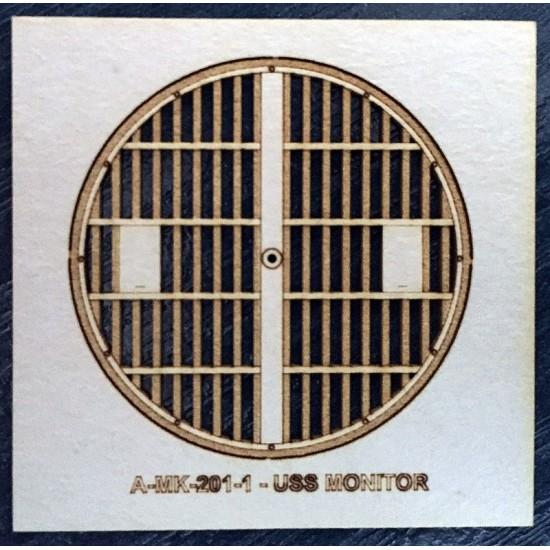 USS MONITOR -  wieża górna płyta
