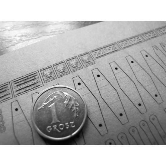 Ty-23 1:45 Wręgi, koła, detale, grawerowane tabliczki