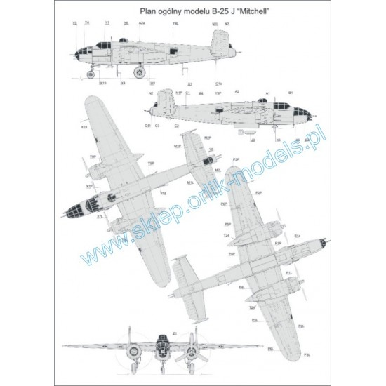 051. B-25 J Mitchell  (kreda)