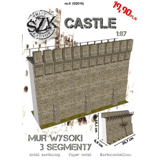 CASTLE 009 - Mur wysoki - 3 segmenty
