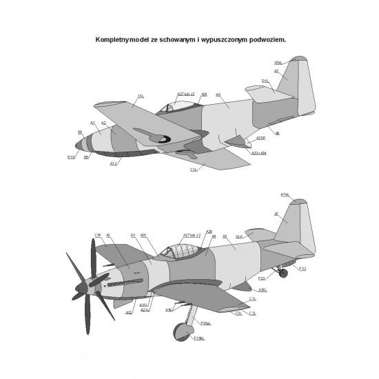 097. Martin Baker MB-5  + laserowo wycinany szkielet