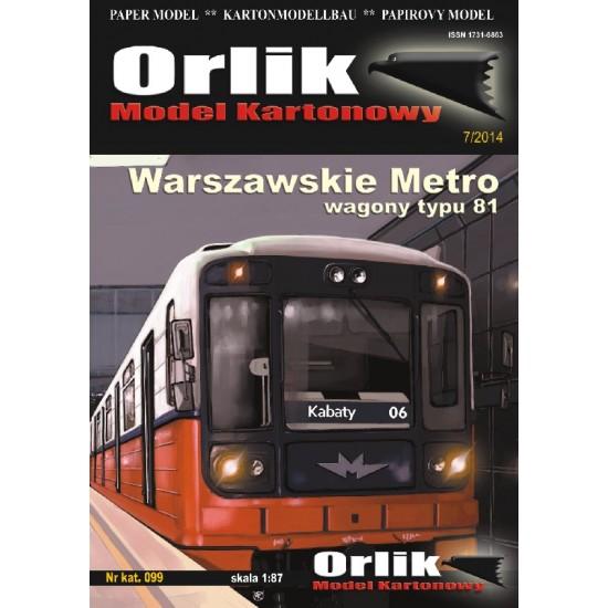 099. Warszawskie Metro - wagony typ 81