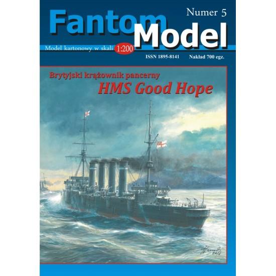 Brytyjski krążownik pancerny HMS Good Hope, skala 1:200
