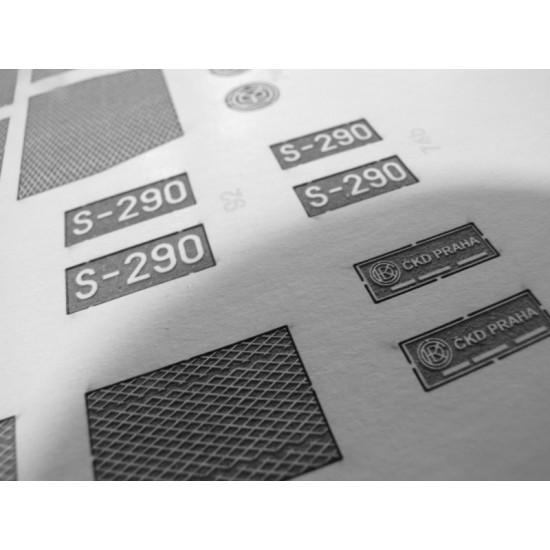 S200 (T669): Wręgi, koła, detale, grawerowane tabliczki i pomosty