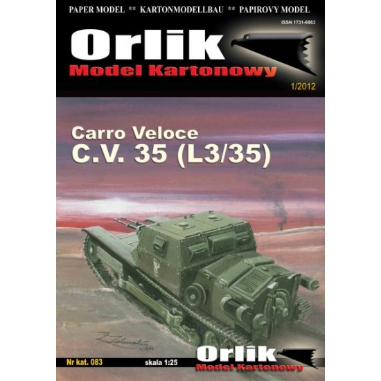 083. Carro Veloce C.V. 35 (L3/35)  + laserowo wycinany szkielet